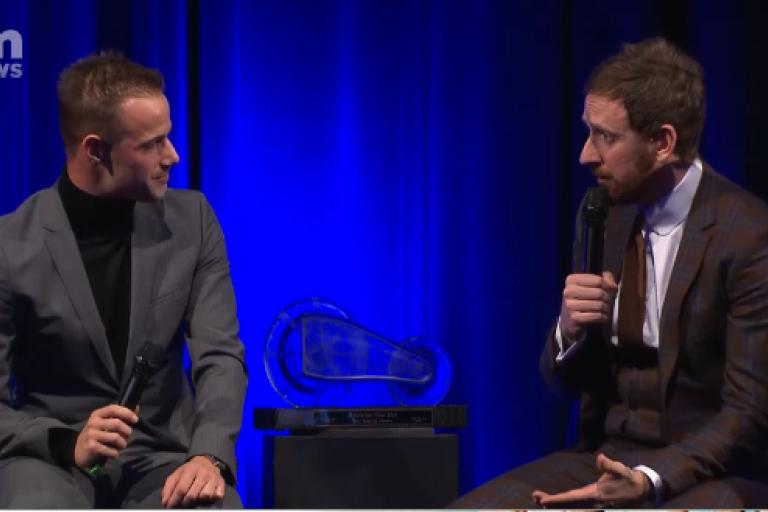 Victor Campenaerts and Sir Bradley Wiggins (via VTM Nieuws).PNG