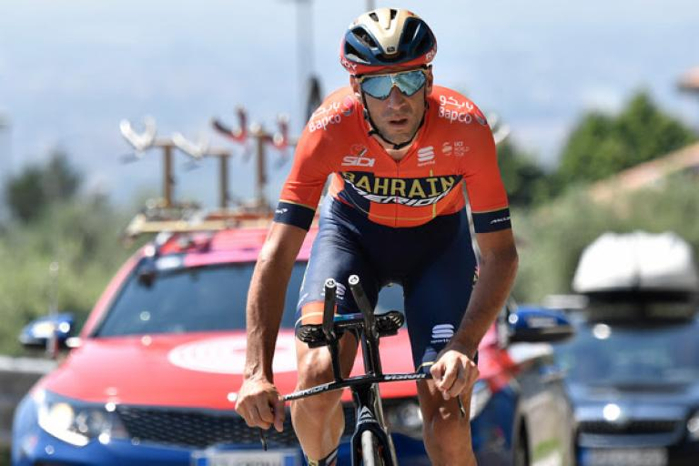 Vincenzo Nibali at the 2019 Giro d'Italia (picture RCS Sport, LaPresse)