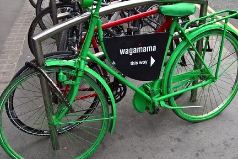 Wagamama advertising bike (by TheAnimus on Reddit)