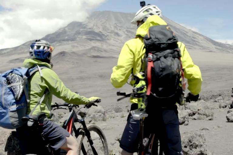 WBR Kilimanjaro ascent by bicycle (Still from Redbull video)
