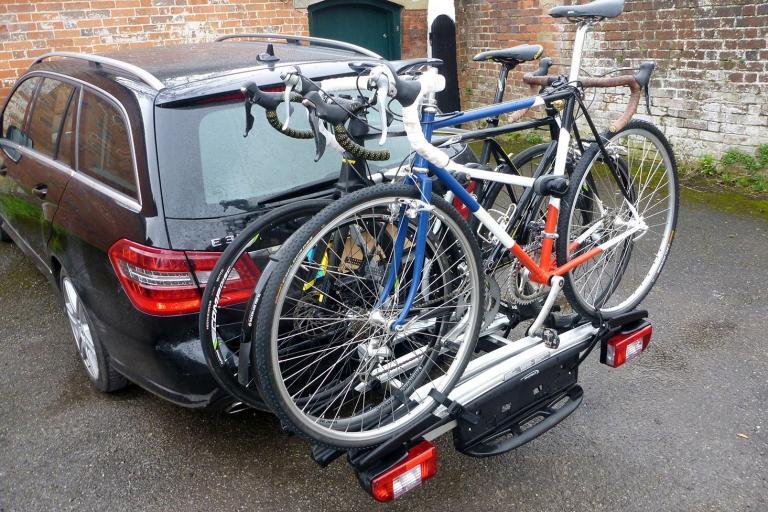 Whispbar WBT31 3 bike tow bar carrier & Review: Thule VeloCompact 92501 2-bike car rack   road.cc