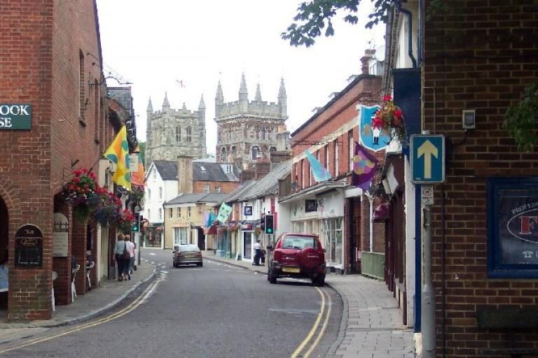 Wimborne (CC BY SA 2.0 by Ron Strutt on Wikimedia Commons)