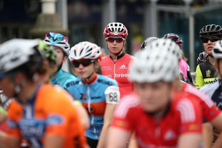 Women's national road race start 2016 (copyright Britishcycling.org_.uk).jpg