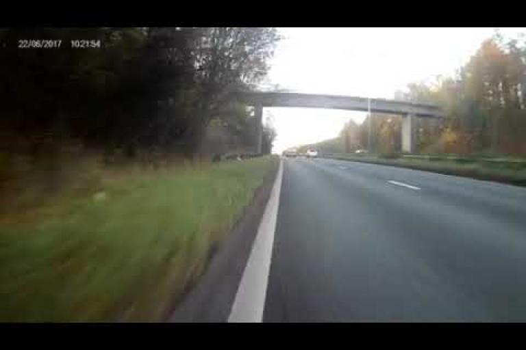 Near Miss of the Day 244  Close pass at speed by a
