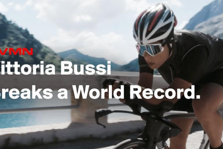 1565b8f9ec27 Vittoria Bussi breaks Hour Record by 27 metres